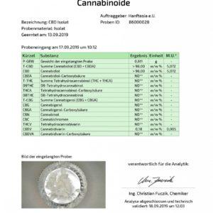 CBD Kristalle 10g (10000mg) – Pures Cannabidiol Isolat