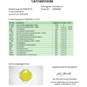 Premium CBD-Öl Tropfen in Hanföl 5%