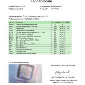 Frucht MCT CBD-Öl 5% mit Aroma (Erdbeere, Kokos, Vanille)