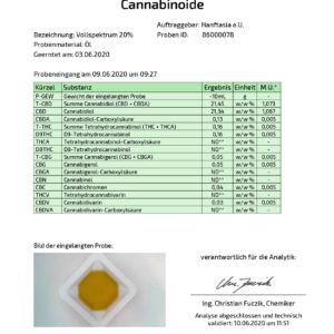 Vollspektrum CBD Öl 20% auf Basis von Hanföl (10ml, 20ml)