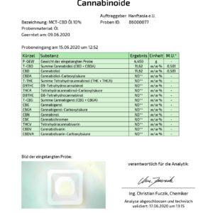 Frucht MCT CBD-Öl 10% mit Aroma (Erdbeere, Kokos, Vanille)