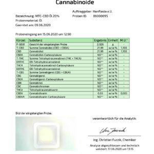 Frucht MCT CBD-Öl 20% mit Aroma (Erdbeere, Kokos, Vanille)