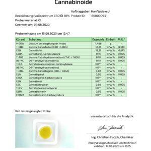Vollspektrum CBD Öl 10% auf Basis von Hanföl (10ml, 20ml)