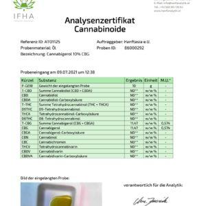 Premium Cannabigerol CBG-Öl Tropfen 10%