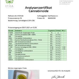 Premium Cannabigerol CBG-Öl Tropfen 20%